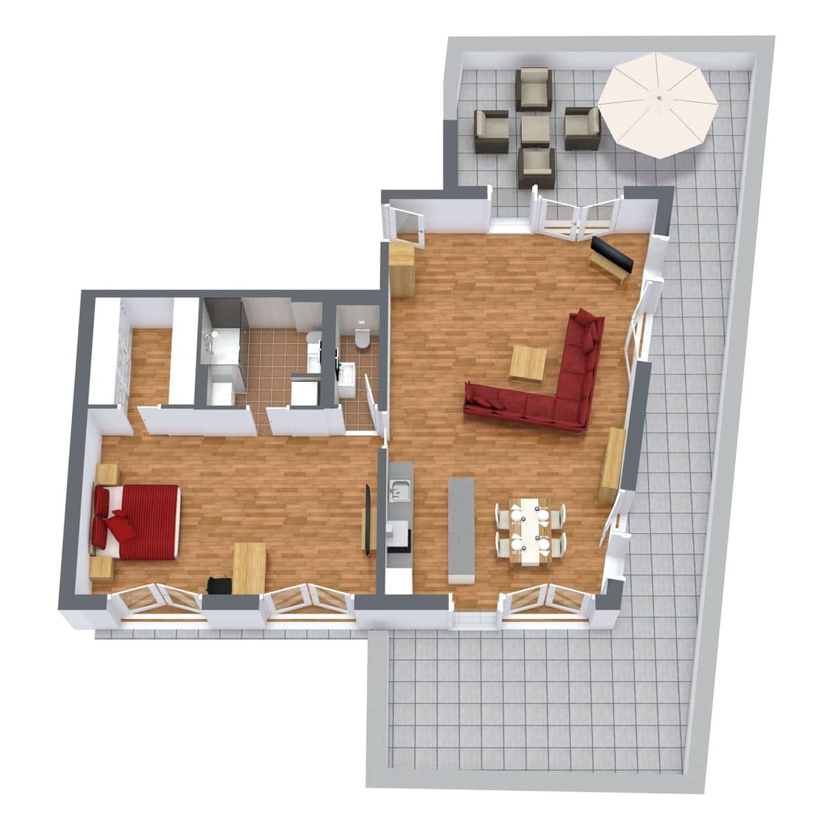 Penthouse 951 - Floor Plan
