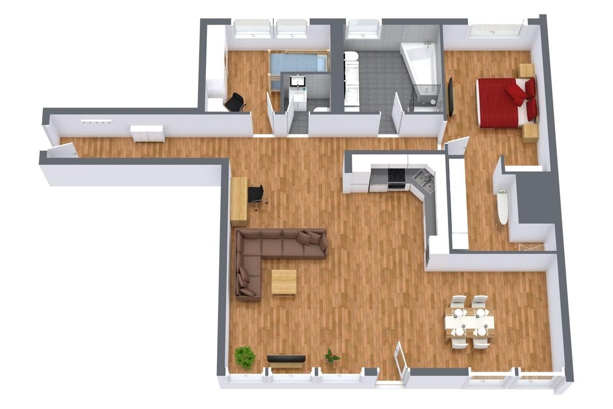 Penthouse 952 - Floor Plan