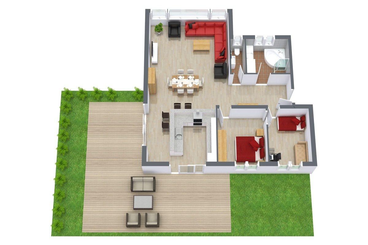 Apartment 961 Floor Plan