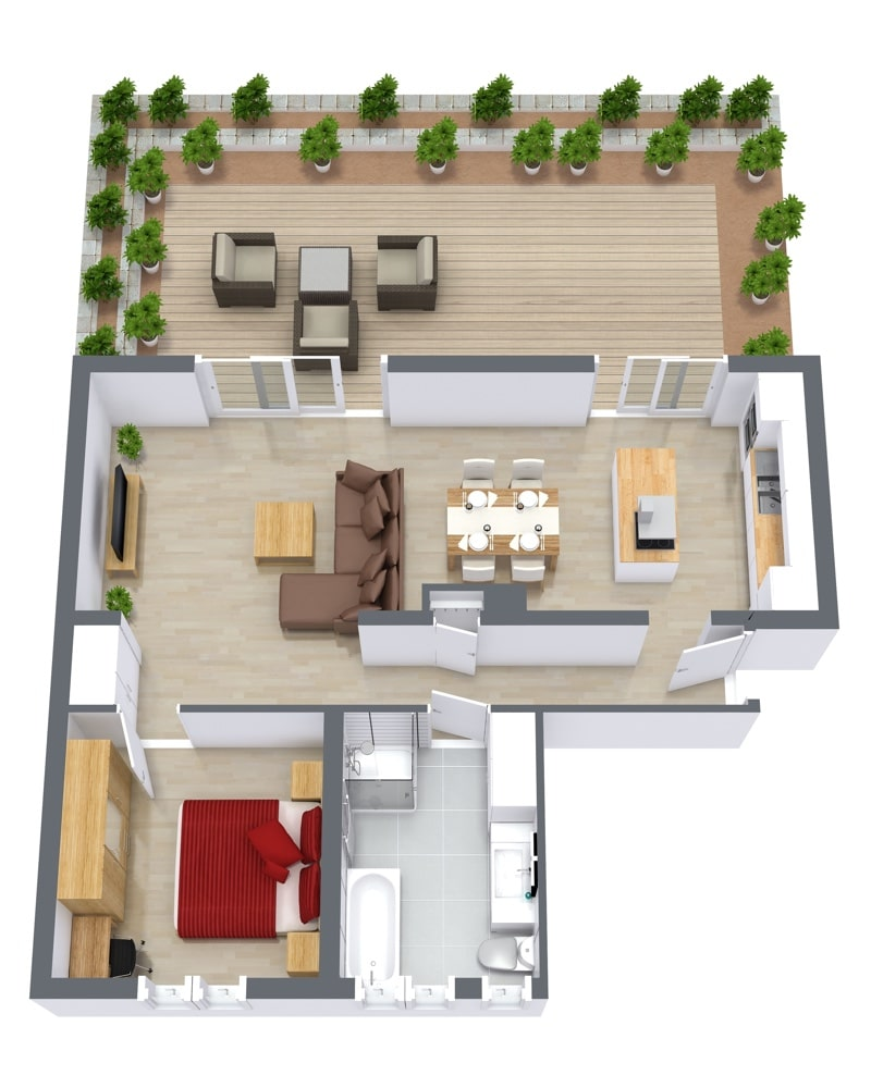 Closest Apartments: 1-Bedroom Furnished Apartment In Stuttgart » Close To