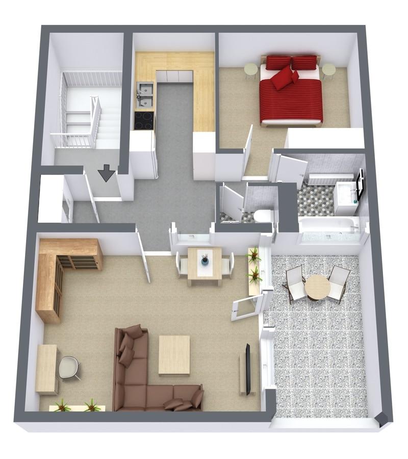 Ninety Degrees Apartments: 1-Bedroom Furnished Apartment In Stuttgart Moehringen (972