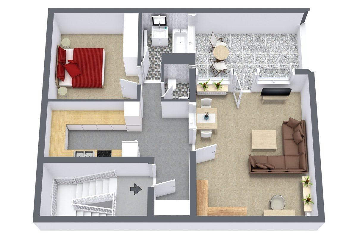 Floor Plan Apt. 972