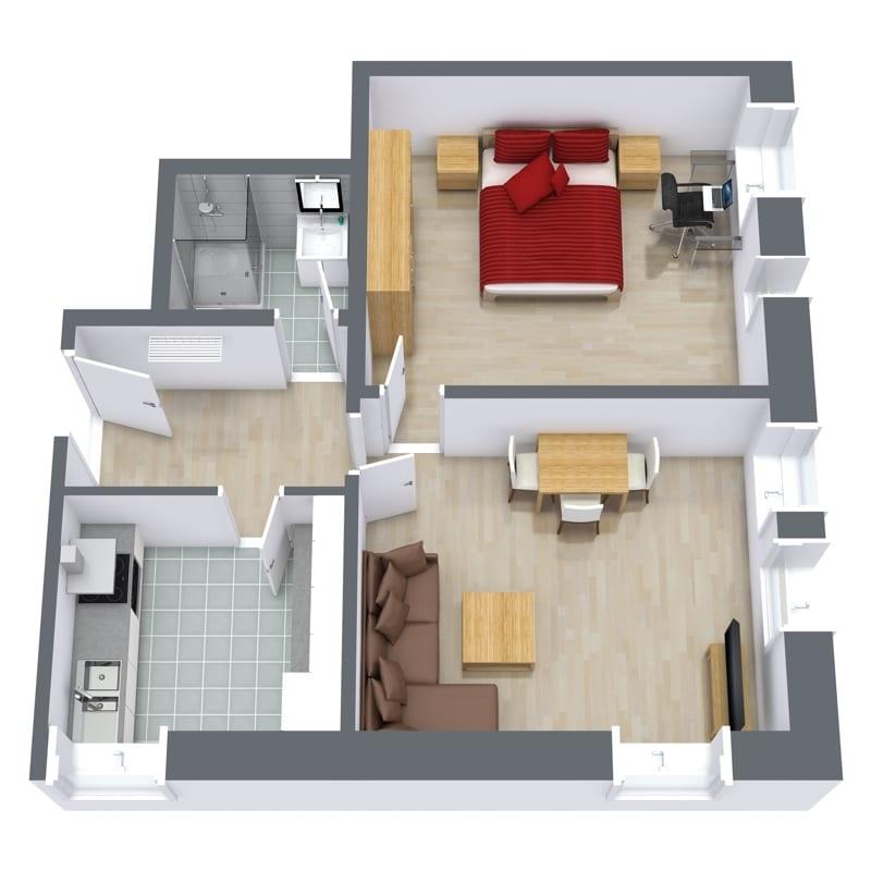 Apartment 906 Floorplan